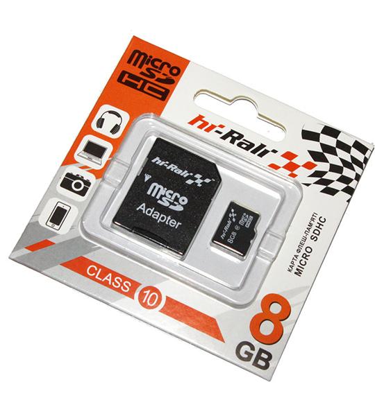 Карта памяти Hi-Rali microSDHC 8 GB Card Class 10 + SD adapter