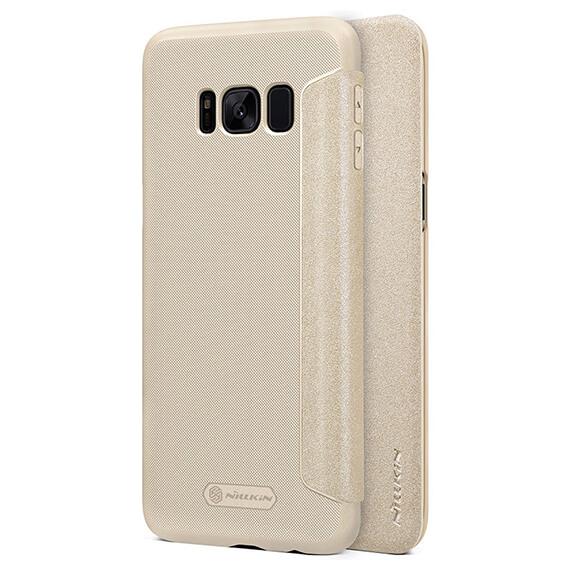 Кожаный чехол (книжка) Nillkin Sparkle Series для Samsung G950 Galaxy S8