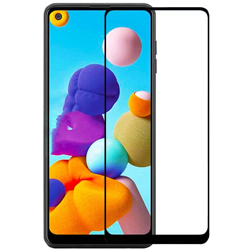 Защитное стекло XD+ (full glue) (тех.пак) для Samsung Galaxy A21 / A21s
