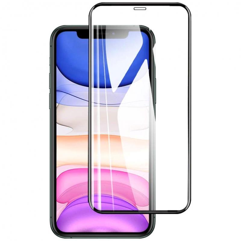 """Защитное стекло 10D (full glue) (без упаковки) для Apple iPhone 11 (6.1"""") / XR"""