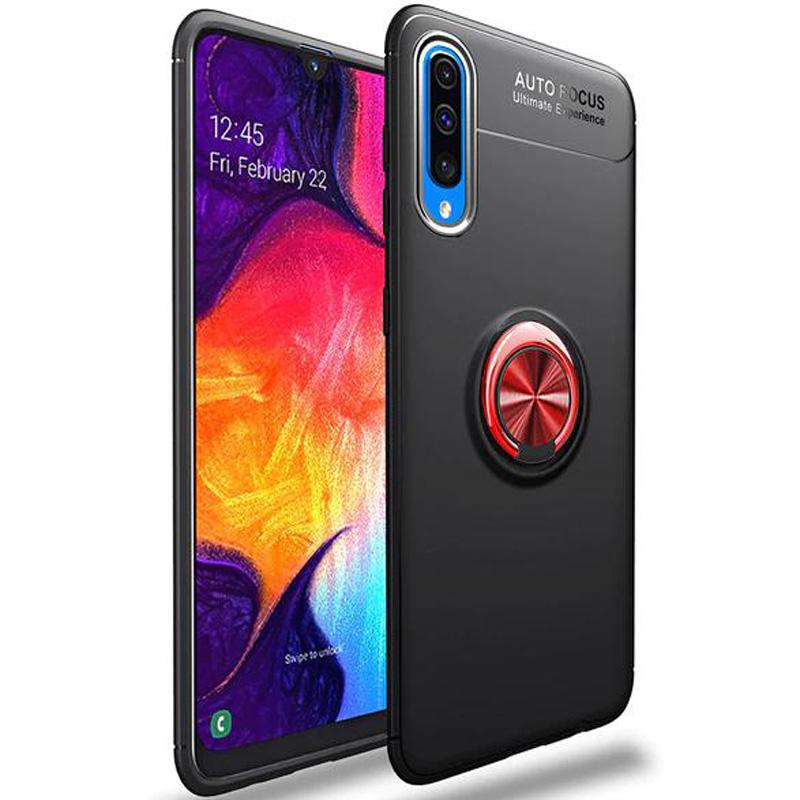 Чехол Deen ColorRing с магнитным держателем + стекло на камеру со скидкой 50% для Samsung Galaxy A50 (A505F)