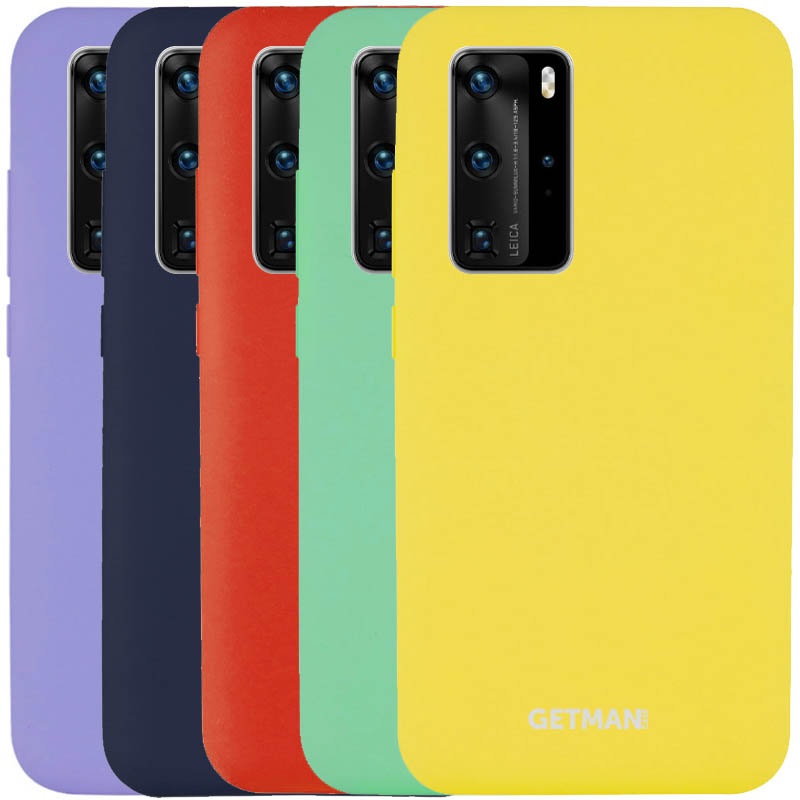 Чехол Silicone Cover GETMAN for Magnet для Huawei P40