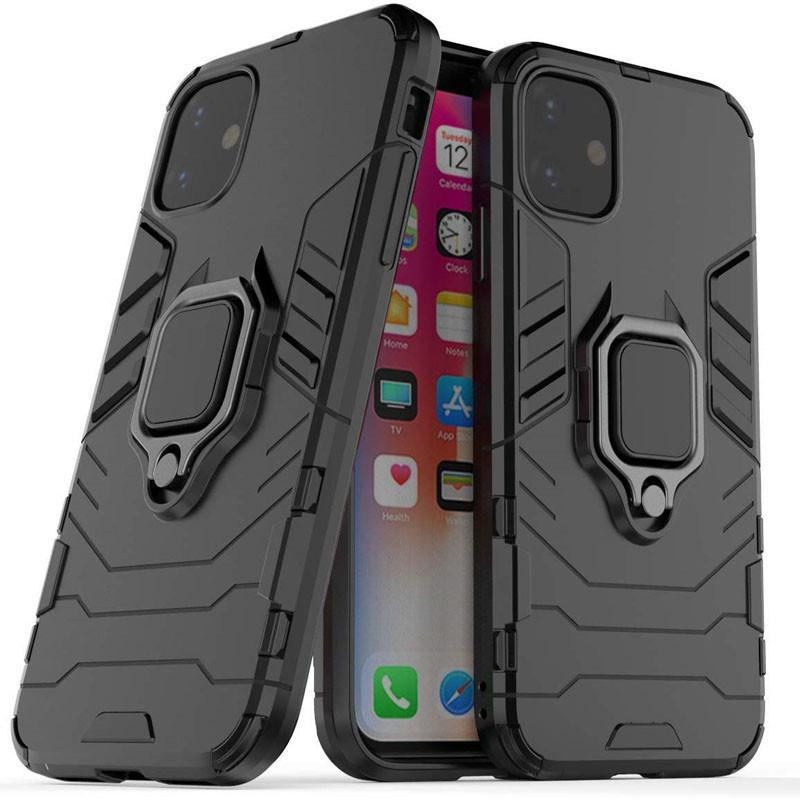 """Ударопрочный чехол Transformer Ring под магнитный держатель для Apple iPhone 11 (6.1"""")"""