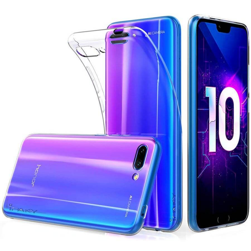 TPU чехол iPaky Clear Series (+стекло) для Huawei Honor 10 Lite