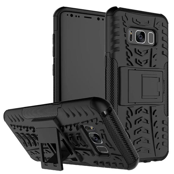 Противоударный двухслойный чехол Shield для Samsung G950 Galaxy S8 с подставкой