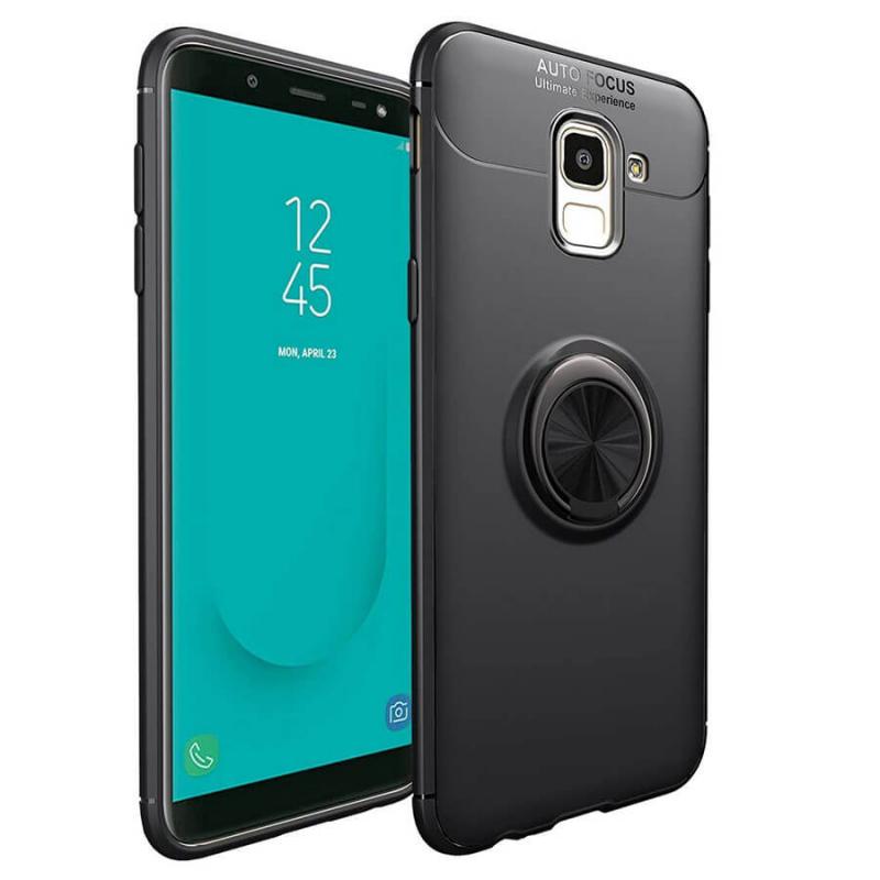 TPU чехол Deen ColorRing под магнитный держатель для Samsung J600F Galaxy J6 (2018)