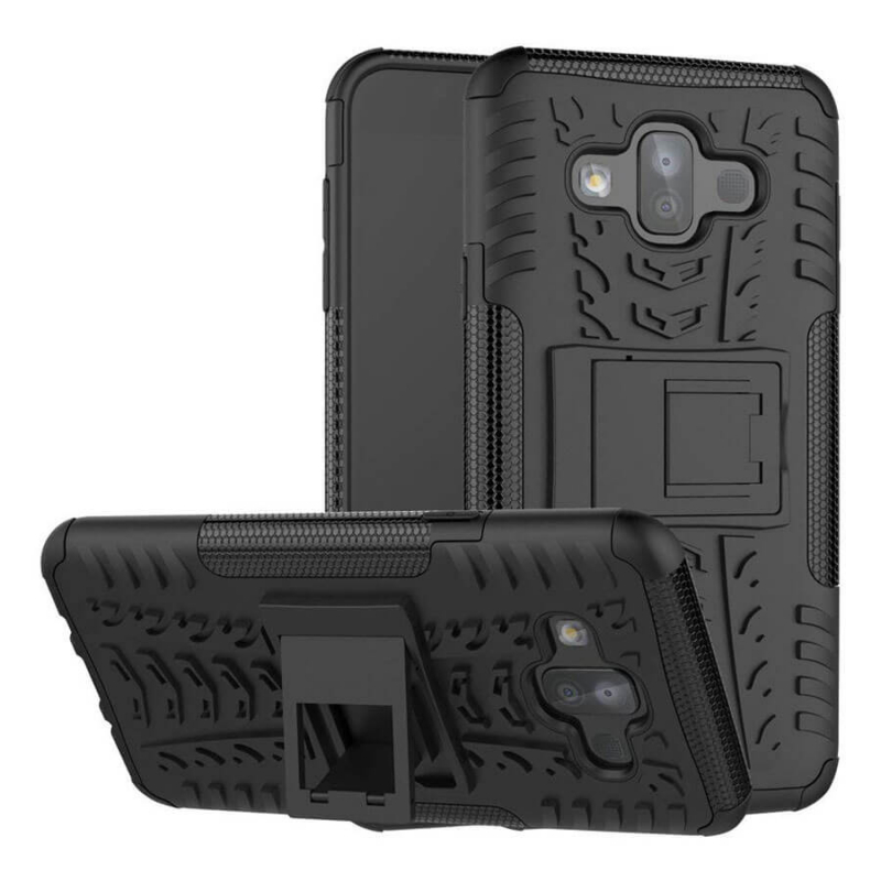 Противоударный двухслойный чехол Shield для Samsung Galaxy J7 Duo с подставкой