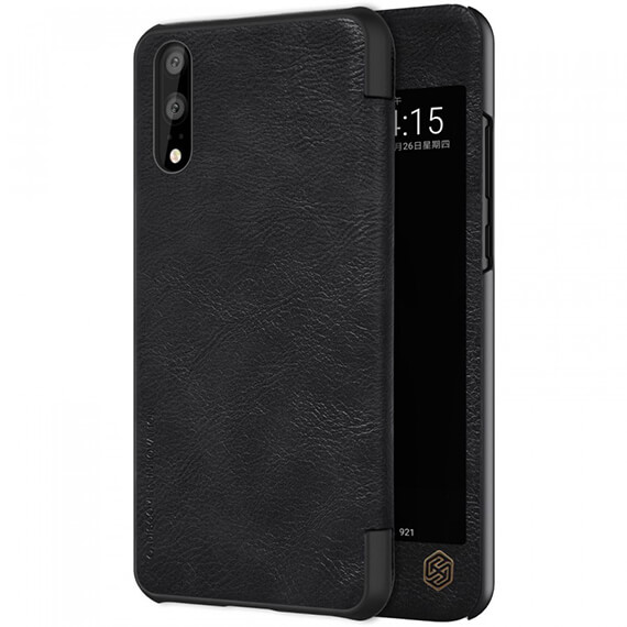 Кожаный чехол (книжка) Nillkin Qin Series для Huawei P20