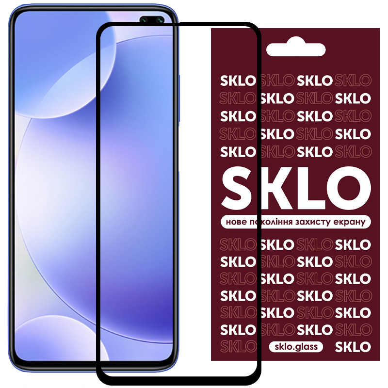 Защитное стекло SKLO 3D (full glue) для Xiaomi Redmi Note 9 / Redmi 10X / Note 9T / Note 9 5G