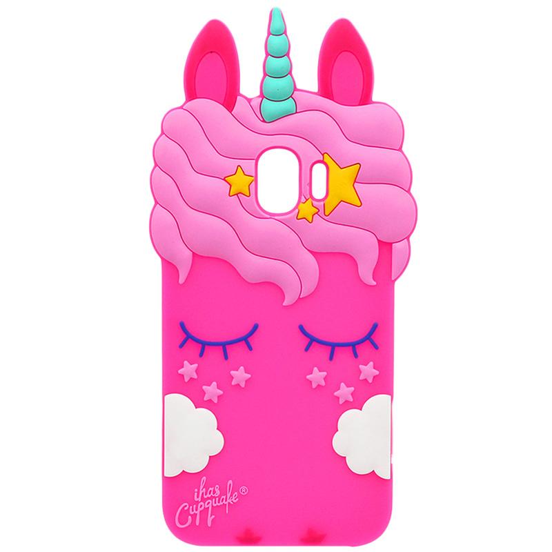 Силиконовая накладка 3D Little Unicorn для Samsung Galaxy A6 Plus (2018)