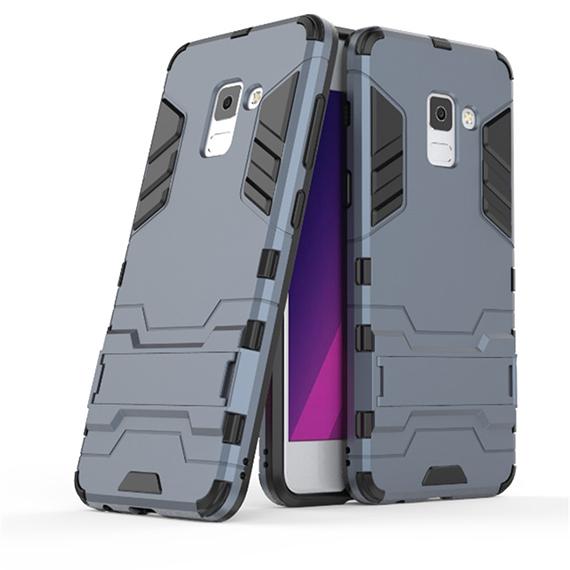 Ударопрочный чехол-подставка Transformer для Samsung A530 Galaxy A8 (2018) с мощной защитой корпуса