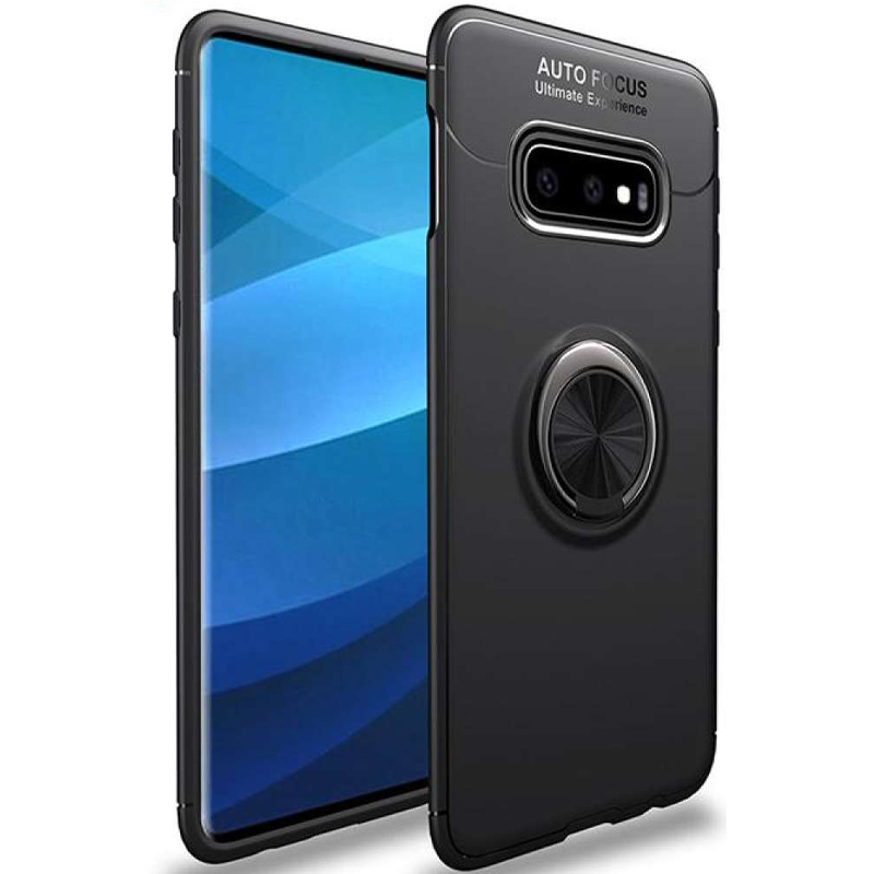 TPU чехол Deen ColorRing под магнитный держатель (opp) для Samsung Galaxy S10e