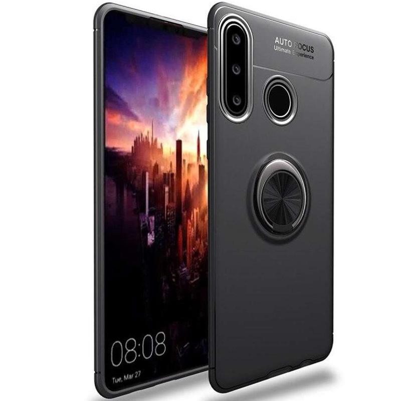 TPU чехол Deen ColorRing под магнитный держатель (opp) для Huawei P30 lite