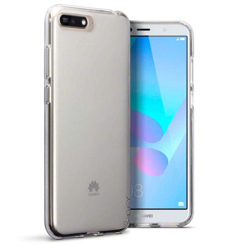 TPU чехол iPaky Clear Series (+стекло) для Huawei Y6 (2018)