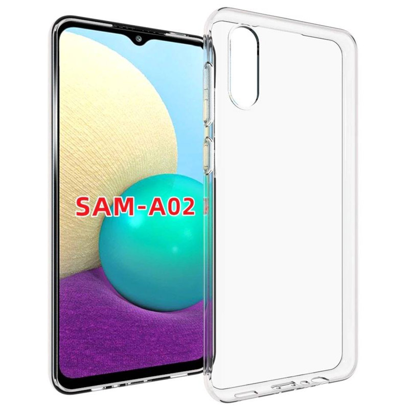 TPU чехол Epic Transparent 1,0mm для Samsung Galaxy A02