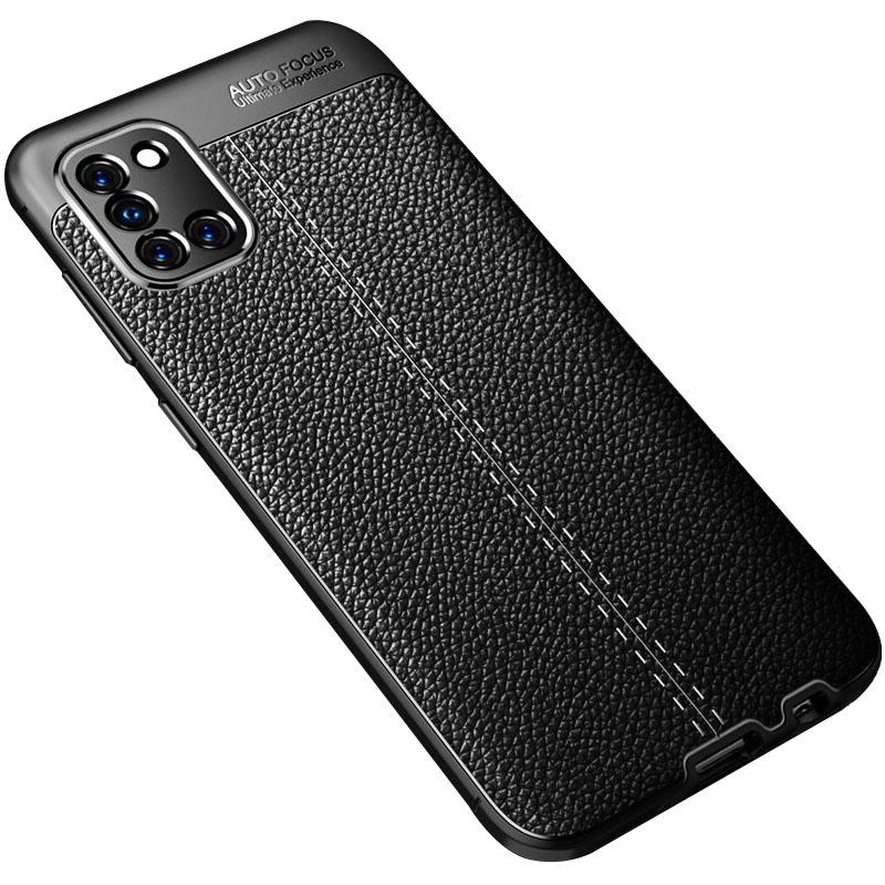 TPU чехол фактурный (с имитацией кожи) для Samsung Galaxy A31
