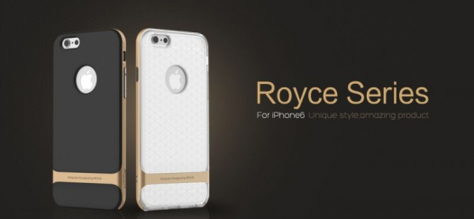 TPU+PC чехол Rock Royce (Transparent) Series для Apple iPhone 6/6s (4.7