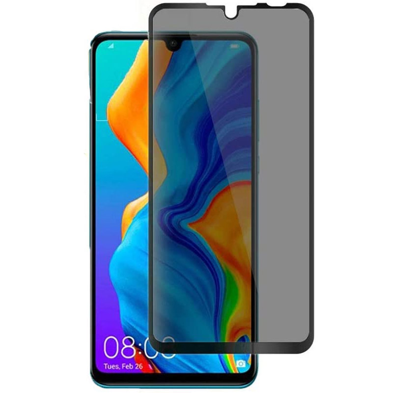 Защитное стекло Privacy 5D (full glue) для Huawei P30 lite