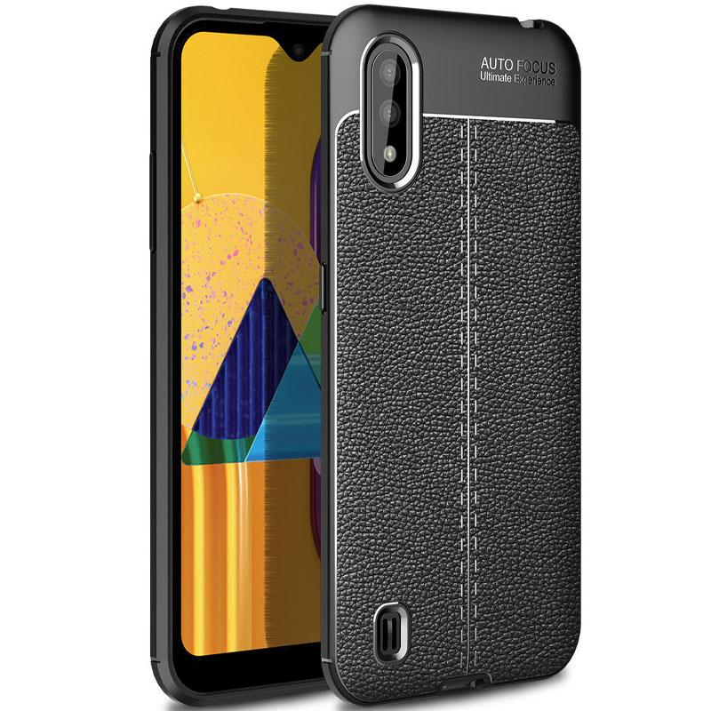 TPU чехол фактурный (с имитацией кожи) для Samsung Galaxy M01 Core / A01 Core