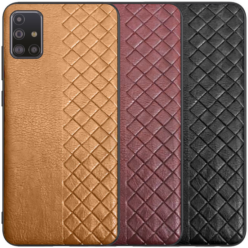 Кожаная накладка WeaveSide (PU) для Samsung Galaxy M31s
