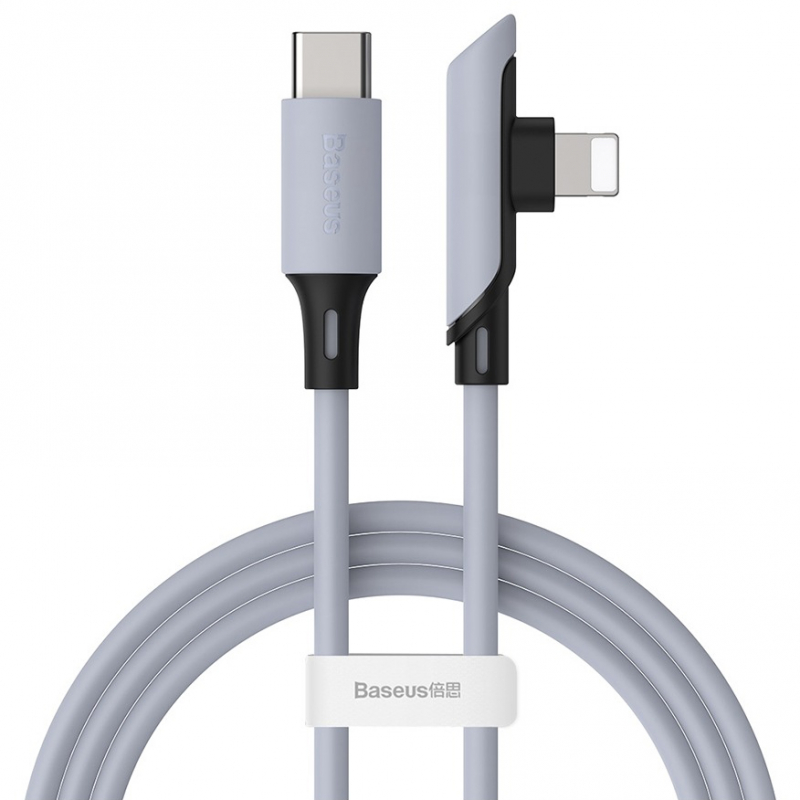 Дата кабель Baseus Colourful Elbow Type-C to Lightning Cable (1.2m) (тех.пак.)