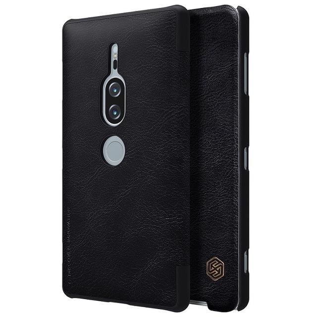 Кожаный чехол (книжка) Nillkin Qin Series для Sony Xperia XZ2 Premium
