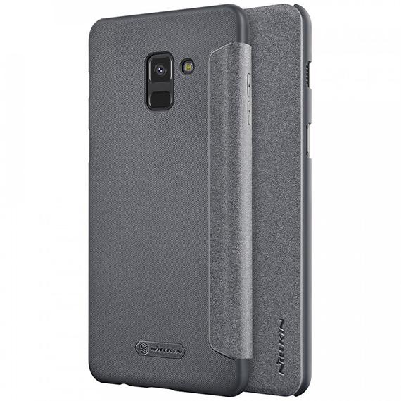 Кожаный чехол (книжка) Nillkin Sparkle Series для Samsung A530 Galaxy A8 (2018)