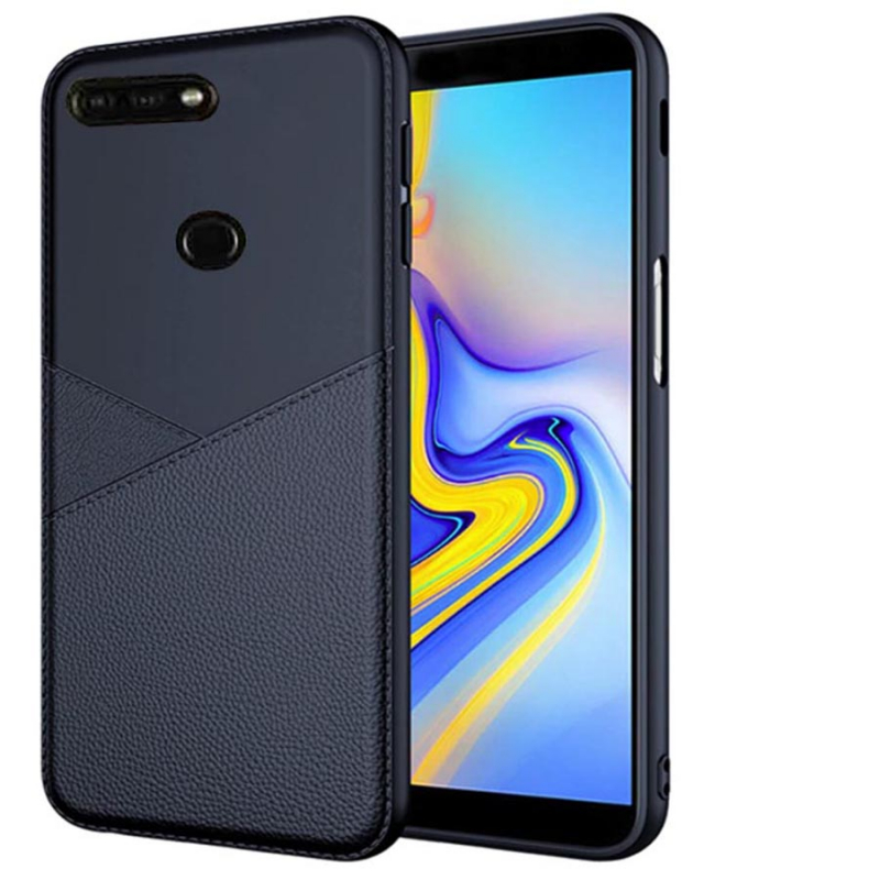TPU чехол с имитацией кожи Leather Half для Huawei Y7 Prime (2018) / Honor 7C pro