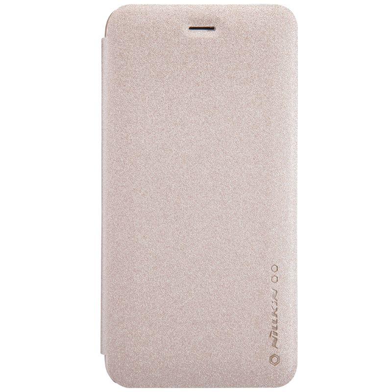 Кожаный чехол (книжка) Nillkin Sparkle Series для Samsung Galaxy A60 (A606F)