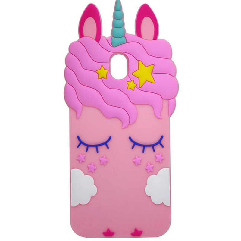 Силиконовая накладка 3D Little Unicorn для Samsung J730 Galaxy J7 (2017)