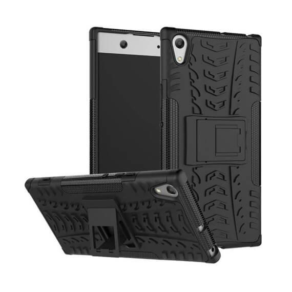 Противоударный двухслойный чехол Shield для Sony Xperia XA1 Ultra с подставкой