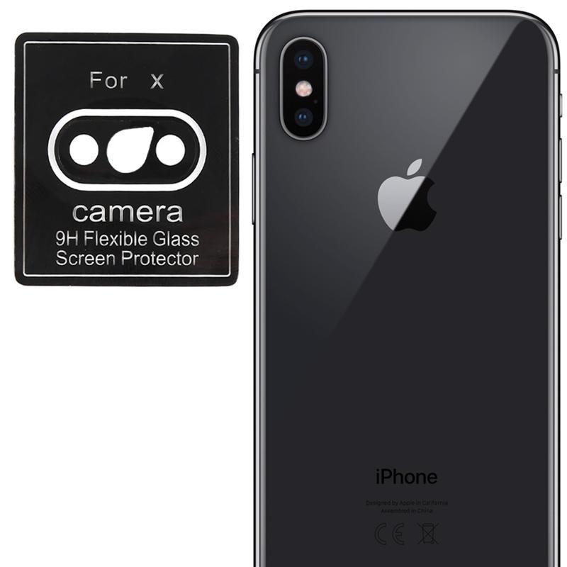 Гибкое защитное стекло 0.18mm на камеру (тех.пак) для Apple iPhone X / XS/ XS Max