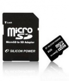Карта памяти Silicon Power microSDHC 8 GB Class 4 + SD adapter