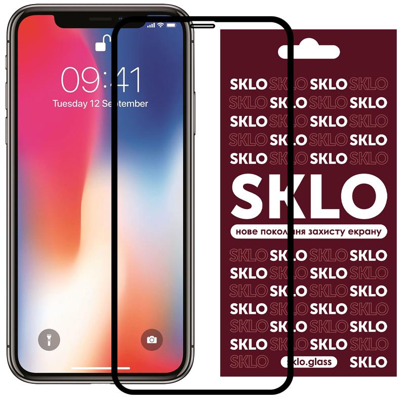 """Защитное стекло SKLO 3D (full glue) для Apple iPhone 11 Pro Max / XS Max (6.5"""")"""