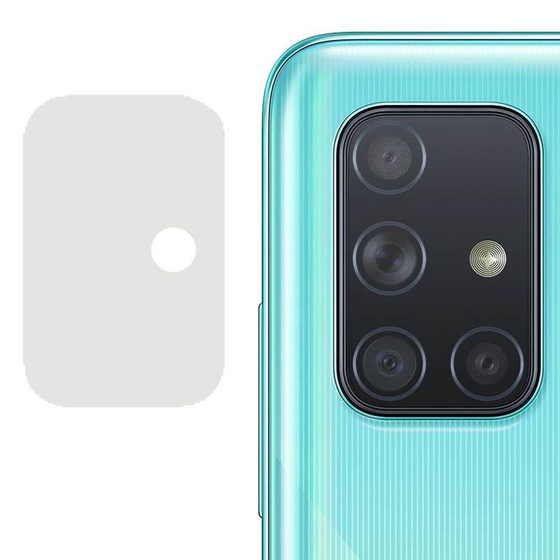 Гибкое защитное стекло 0.18mm на камеру (тех.пак) для Samsung Galaxy A71