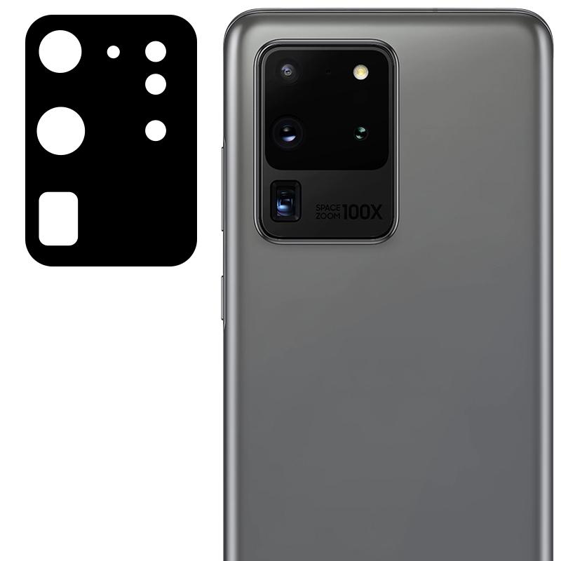 Гибкое защитное стекло 0.18mm на камеру (тех.пак) для Samsung Galaxy S20 Ultra