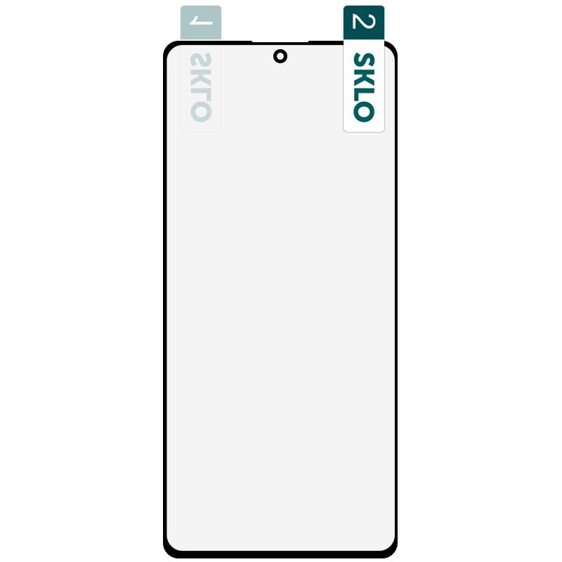 Гибкое защитное стекло SKLO Nano (тех.пак) для Samsung Galaxy S10 Lite