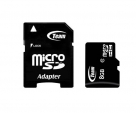 Карта памяти Team microSDHC 8 GB Card Class 10 + SD adapter