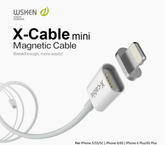 Магнитный кабель WSKEN X-cable Lightning для Apple iPhone 6/6 plus/5/5S/5C/SE (mini)