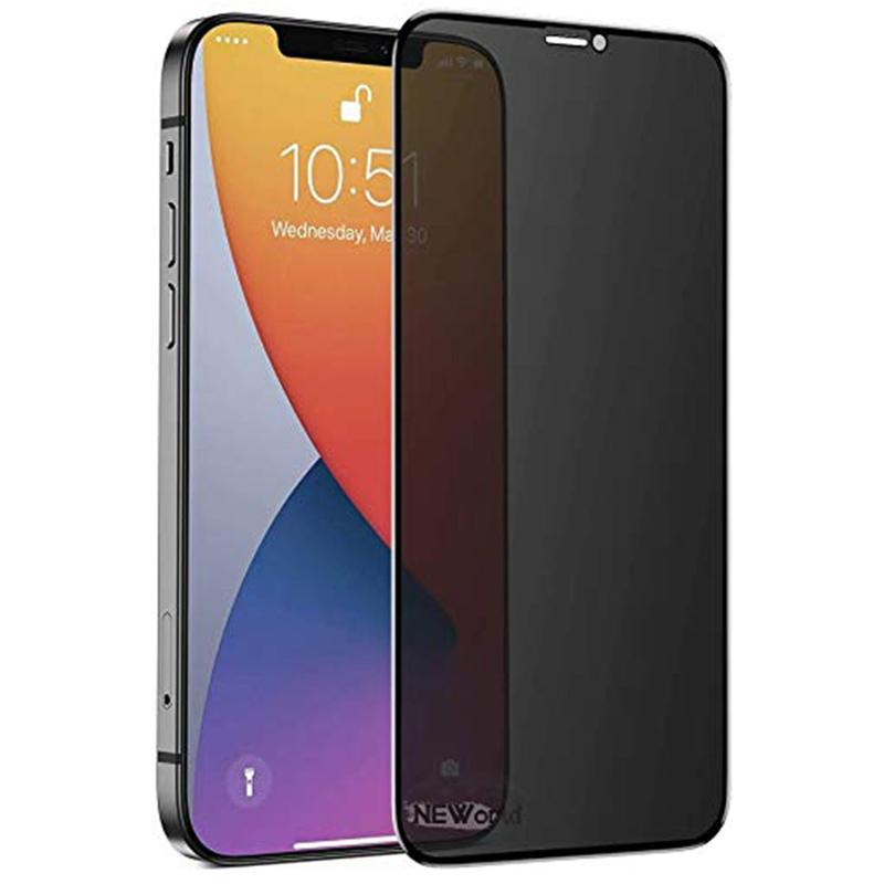 """Защитное стекло Privacy 5D (full glue) для Apple iPhone 12 Pro Max (6.7"""")"""
