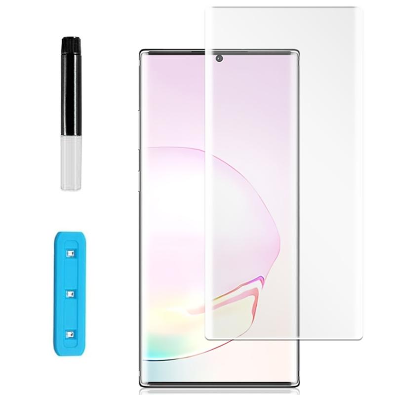 Защитное 3D стекло Nano Optics с УФ лампой для Samsung Galaxy Note 20