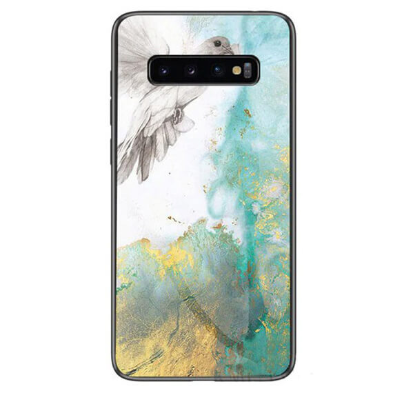 TPU+Glass чехол Luxury Marble для Samsung Galaxy S10
