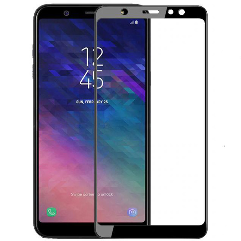 Защитное цветное стекло Mocoson 5D (full glue) на весь экран для Samsung Galaxy A6 Plus (2018)