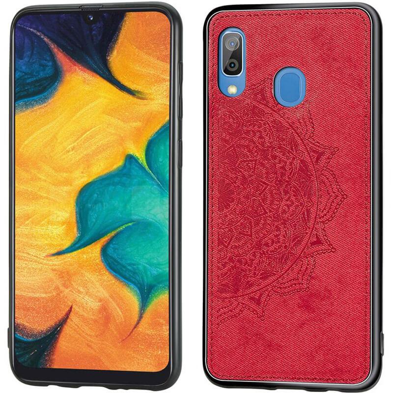 TPU+Textile чехол Mandala с 3D тиснением для Samsung Galaxy A20 / A30