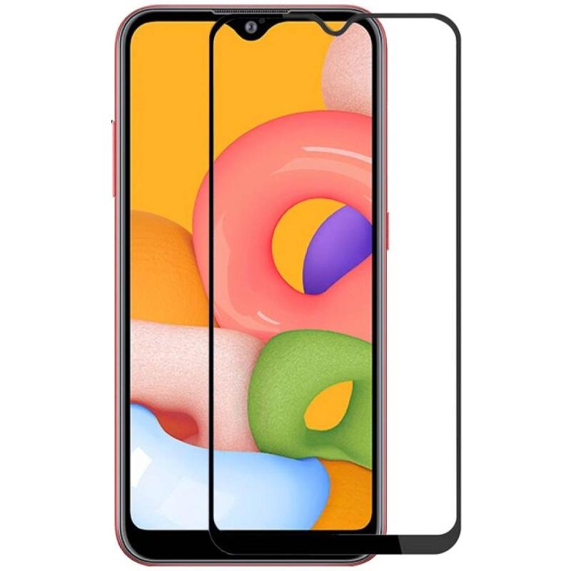 Защитное цветное стекло Mocoson 5D (full glue) для Samsung Galaxy A01