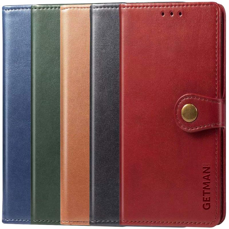 Кожаный чехол книжка GETMAN Gallant (PU) для Xiaomi Redmi Note 9s / Note 9 Pro / Note 9 Pro Max