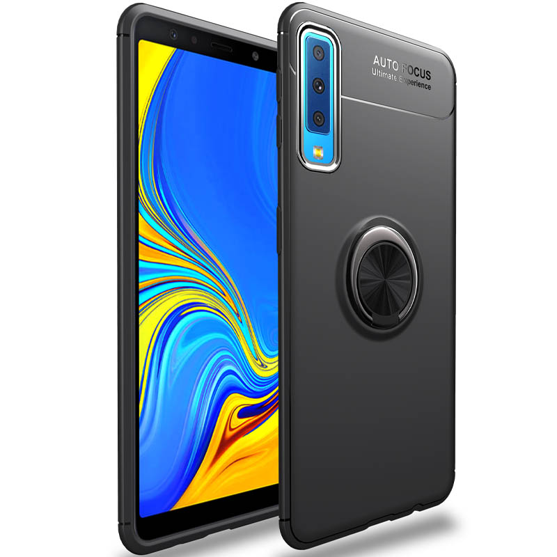 TPU чехол Deen ColorRing под магнитный держатель (opp) для Samsung A750 Galaxy A7 (2018)