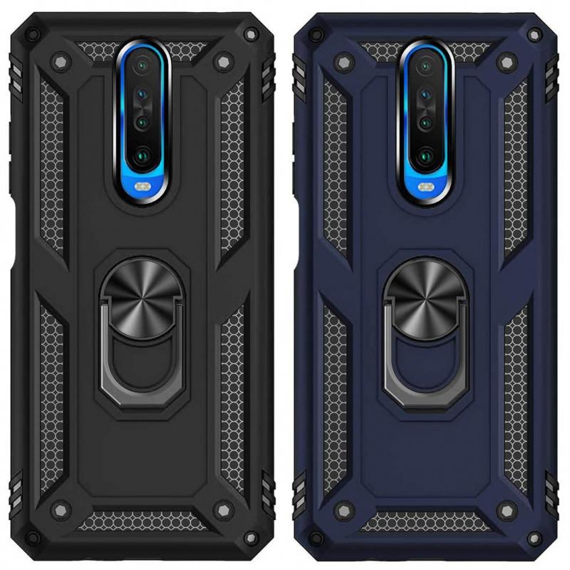 Ударопрочный чехол Serge Ring магнитный держатель для Xiaomi Redmi K30 / Poco X2