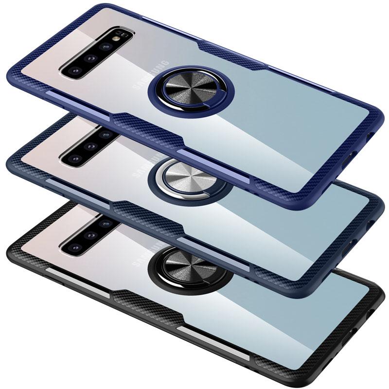 TPU+PC чехол Deen CrystalRing for Magnet (opp) для Samsung Galaxy S10+