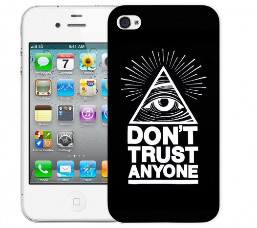 Чехол «Don't trust anyone» для Apple iPhone 4/4s